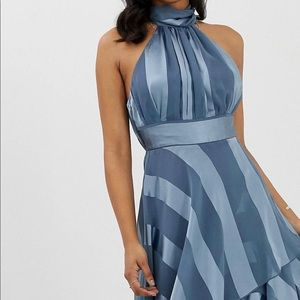 ASOS Long Striped Formal Dress